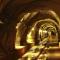dark tunnel with light